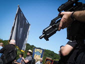 Armed Police, 2017 Durham Miners Gala, Durham - Mark Pinder - CTSFO,2010s,2017,ACE,adult,adults,armed,CLJ,confidence patrol,Counter Terrorism Unit,Counter Terrorist Specialist Firearms Officer,County Durham,Culture,Durham Miners Gala,firearm,firearms,force,guard