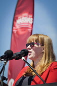 Angela Rayner MP speaking Matt Wrack speaking, Durham Miners Gala, Durham 2017 - Mark Pinder - 2010s,2017,ACE,County Durham,Culture,Durham Miners Gala,FEMALE,Labour Party,member,member members,members,MINER,Miners,MINER'S,people,person,persons,POL,political,POLITICIAN,POLITICIANS,Politics,SPEAK