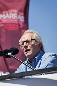 Ken Loach speaking Durham Miners Gala, Durham 2017 - Mark Pinder - 2010s,2017,ACE,County Durham,Culture,Durham Miners Gala,Labour Party,member,member members,members,MINER,Miners,MINER'S,POL,political,POLITICIAN,POLITICIANS,Politics,SPEAKER,SPEAKERS,speaking,SPEECH,T