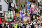 NUM, UCU and NUT banners, Durham Miners Gala, Durham 2017 - Mark Pinder - 2010s,2017,ACE,BANNER,banners,County Durham,Culture,Durham Miners Gala,member,member members,members,MINER,Miners,MINER'S,NUM,Trade Union,Trade Union,Trade Unions,Trades Union,Trades Union,Trades unio