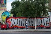 Youth Stand Up, Vote Corbyn, Take back your future, Tories Out! Street art, Camden Town, London - Philip Wolmuth - 14-07-2017
