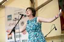 Frances OGrady TUC speaking Tolpuddle Martyrs Festival, Dorset - Jess Hurd - 16-07-2017