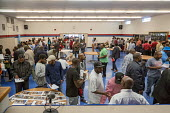 "Detroit, Michigan USA Job seekers at a UAW union hall job fair ""Expungements, Pardons and Jobs. Companies billed as ""ex-felon friendly"" attending. Ex prisoners find it difficult to find work because o... - Jim West - African Americans,2010s,2017,AFL CIO,AFL-CIO,African American,America,american,americans,application,applying,BAME,BAMEs,black,BME,bmes,busy,cities,City,CLJ,criminal,criminal record,criminalisation,cr"