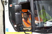 Birmingham council refuse workers go on strike against redundancies, Perry Barr Depot, Birmingham. Birmingham City Council want to save &pound 600,000 a year by axing 113 grade three bin men and repla... - John Harris - 2010s,2017,against,BAME,BAMEs,bin man,bin man binmen,bin men,binman,binmen,Birmingham,Black,Black and White,BME,bmes,cities,City,collection,collector,council,Council Services,council service,Council S
