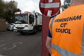 Birmingham council refuse workers go on strike against redundancies, Perry Barr Depot, Birmingham. Birmingham City Council want to save &pound 600,000 a year by axing 113 grade three bin men and repla... - John Harris - 01-09-2017