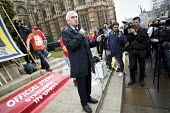 John McDonnell MP speaking at McDonalds workers strike rally, Westminster, London. Fast Food Rights Campaign want 10 pounds an hour, end to zero hour contracts and union rights - Jess Hurd - 2010s,2017,activist,activists,against,BFAWU,CAMPAIGN,campaigner,campaigners,CAMPAIGNING,CAMPAIGNS,cities,City,contract,contracts,DEMONSTRATING,Demonstration,DEMONSTRATIONS,DISPUTE,disputes,EARNINGS,fa