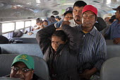 Tijuana, Mexico, Farmworkers in AONEMJS on strike for better conditions and pay. From the San Quintin Valley in Baja California they take buses to Tijuana, to march to the U.S.A Mexico border, to draw... - David Bacon - 29-03-2015