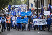 Peoples March for Europe, pro EU demonstration, London. - Jess Hurd - 2010s,2017,activist,activists,banner,banners,Brexit,CAMPAIGN,campaigner,campaigners,CAMPAIGNING,CAMPAIGNS,democrat,DEMONSTRATING,demonstration,DEMONSTRATIONS,EU,Europe,European Union,FEMALE,Lib Dem,Li