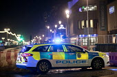 Police cordon off the seafront and evacuate buildings after a bomb threat to The Grand Hotel, TUC Congress, Brighton 2017 - Jess Hurd - 2010s,2017,adult,adults,bomb,BOMBS,Brighton,buildings,CAR,cars,check,checking,checkpoint,CLJ,Congress,cordon,Counter Terrorism,evacuate,highway,Hotel,HOTELS,intercept,night time,officers,Police,Police