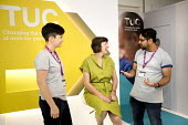 Frances OGrady talking to young workers, TUC Gen Sec TUC Congress, Brighton 2017 - Jess Hurd - 10-09-2017