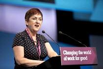 TUC President Mary Bousted NEU ATL speaking, Congress, Brighton 2017. - Jess Hurd - 10-09-2017