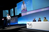 Kevin Courtney NEU NUT speaking, vote of thanks for TUC President Mary Bousted, TUC Congress, Brighton 2017. - Jess Hurd - 10-09-2017
