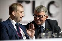 John Hannett USDAW talking to Mick Cash RMT, TUC Congress Brighton 2017 - John Harris - 11-09-2017