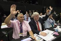 Eddie Saville, Paul Donaldson HCSA voting TUC Congress Brighton 2017 - John Harris - 2010s,2017,Conference,conferences,delegate,delegates,democracy,gen sec,HCSA,member,member members,members,people,Trade Union,Trade Union,Trade Unions,Trades Union,Trades Union,Trades unions,TUC,TUC Co