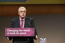 Roy Rickhuss Community union gen sec speaking TUC Congress Brighton 2017 - John Harris - 11-09-2017