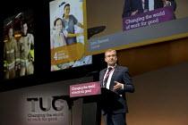 John Hannett, USDAW speaking TUC Congress, Brighton 2017. - Jess Hurd - 11-09-2017