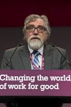 Fred Brown NASUWT speaking TUC Congress Brighton 2017 - John Harris - 12-09-2017