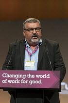 Alan Hackett NASUWT speaking TUC Congress Brighton 2017 - John Harris - 12-09-2017