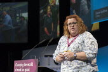 Jane Loftus CWU speaking TUC Congress Brighton 2017 - John Harris - 12-09-2017