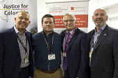 Tim Roache GMB, Huber Ballesteros, Stephen Cavalier Thompsons Solicitors, Mick Whelan ASLEF, Justice for Colombia TUC Congress, Brighton 2017 - John Harris - 12-09-2017