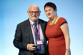 John Smith MU receiving a gold badge from Mary Bousted TUC Congress, Brighton 2017 - Jess Hurd - 13-09-2017