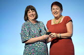 Niamh Sweeney awarded a gold badge with Mary Bousted, NEU, TUC Congress, Brighton 2017 - Jess Hurd - 13-09-2017