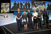 Frances OGrady and Congress pay tribute to public and emergency service workers, TUC Congress, Brighton 2017. - Jess Hurd - 2010s,2017,adult,adults,Brighton,Conference,conferences,Congress,emergency,FBU,fire brigade,Firefighter,firefighters,fireman,firemen,Frances O�Grady,MATURE,member,member members,members,nurse,nurse