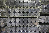 Denver, Colorado, USA National Ice Core Laboratory, cylinders of ice core samples stored at -36 degrees C. The Laboratory stores 19,000 meters of ice cores from Antarctica, Greenland, and North Americ... - Jim West - 28-08-2017