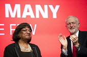 Diane Abbott MP speaking Labour Party Conference, Brighton 2017 - Jess Hurd - 2010s,2017,applauding,applause,BAME,BAMEs,Black,Black and White,BME,bmes,Brighton,Conference,conferences,Diane Abbott,diversity,ethnic,ethnicity,FEMALE,Labour Party Conference,minorities,minority,MP,M