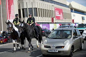 Police horses, Labour Party Conference, Brighton 2017 - Jess Hurd - 2010s,2017,adult,adults,Brighton,CLJ,CLJ Crime Law & Justice,Conference,conferences,domesticated ungulates,equestrian,equine,FEMALE,force,HORSE,horses,Labour Party Conference,mounted,OFFICER,officers,