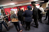 Queue for the Momentum stall, Labour Party Conference, Brighton 2017 - Jess Hurd - 2010s,2017,Brighton,Conference,conferences,Labour Party Conference,Momentum,Party,POL,political,POLITICIAN,POLITICIANS,Politics,Queue,queueing,queues,queuing,stall,stalls