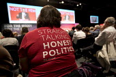 Straight Talking Honest politics t shirt, Labour Party Conference, Brighton 2017 - Jess Hurd - 24-09-2017