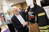 Jeremy Corbyn visits the FBU stand with Matt Wrack at Labour Party Conference, Brighton 2017 - Jess Hurd - 25-09-2017