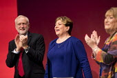Emily Thornberry and Jeremy Corbyn Labour Party Conference, Brighton 2017 - Jess Hurd - 2010s,2017,applauding,applause,Brighton,Conference,conferences,Emily Thornberry,FEMALE,Jeremy Corbyn,Labour Party Conference,MP,MPs,Party,people,person,persons,POL,political,politician,politicians,Pol