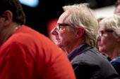 Director Ken Loach listens to John McDonnell speaking Labour Party Conference, Brighton 2017 - Jess Hurd - 25-09-2017