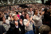 Dave Prentis, UNISON and delegates give a standing ovation for public service workers, Labour Party Conference, Brighton 2017 - Jess Hurd - 25-09-2017