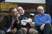 Clive Lewis MP, The Northern Way, Fabrica, The World Transformed, Labour Party conference, Brighton 2017 - John Harris - 2010s,2017,age,ageing population,attention,attentive,conference,conferences,elderly,intelligence,intelligent,interested,Labour Party,Left,left wing,Leftwing,listen,listening,male,man,meeting,MEETINGS,