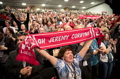 Oh Jeremy Corbyn scarf, Labour Party Conference, Brighton 2017 - Jess Hurd - 2010s,2017,applauding,applause,Brighton,chant,chanting,Conference,conferences,delegate,delegates,enthusiasm,enthusiastic,FEMALE,Jeremy Corbyn,Labour Party,Labour Party Conference,Party,people,person,p