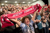 Oh Jeremy Corbyn scarf, Labour Party Conference, Brighton 2017 - Jess Hurd - 2010s,2017,applauding,applause,Brighton,chant,chanting,Conference,conferences,delegate,delegates,EMOTION,EMOTIONS,enthusiasm,enthusiastic,FEMALE,Jeremy Corbyn,Labour Party,Labour Party Conference,Part