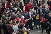 Jeremy Corbyn with supporters arriving, Labour Party Conference, Brighton 2017 - Jess Hurd - 2010s,2017,ARRIVAL,arrivals,arrive,arrives,arriving,Brighton,Conference,conferences,delegate,delegates,FEMALE,Jeremy Corbyn,Labour Party Conference,Party,people,person,persons,POL,political,POLITICIAN