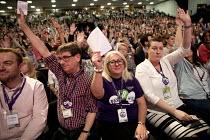 UNISON deleagtes voting, Labour Party Conference, Brighton 2017 - Jess Hurd - 26-09-2017