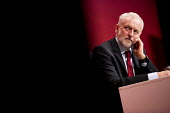 Jeremy Corbyn listening to Tom Watson speaking Labour Party Conference, Brighton 2017 - Jess Hurd - 2010s,2017,attention,attentive,Brighton,Conference,conferences,Jeremy Corbyn,Labour Party Conference,listening,male,man,men,MP,MPs,Party,people,person,persons,POL,political,politician,politicians,Poli