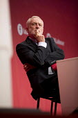 Jeremy Corbyn listening to Tom Watson speaking Labour Party Conference, Brighton 2017 - Jess Hurd - 2010s,2017,attention,attentive,Brighton,Conference,conferences,intelligence,intelligent,Jeremy Corbyn,Labour Party Conference,listening,male,man,men,MP,MPs,Party,people,person,persons,POL,political,po