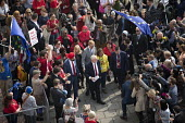 Jeremy Corbyn with supporters arriving, Labour Party Conference, Brighton 2017 - Jess Hurd - 27-09-2017