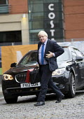 Boris Johnson arriving Conservative Party Conference, Manchester 2017 with a ministerial red box - Jess Hurd - 2010s,2017,ARRIVAL,arrivals,arrive,arrives,arriving,AUTO,AUTOMOBILE,AUTOMOBILES,AUTOMOTIVE,Boris Johnson,car,cars,conference,conferences,CONSERVATIVE,Conservative Party,Conservative Party Conference,c