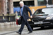 Boris Johnson arriving Conservative Party Conference, Manchester 2017 with a ministerial red box - Jess Hurd - 01-10-2017