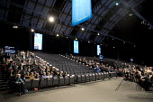 Half empty hall, Conservative Party Conference, Manchester 2017 - Jess Hurd - 2010s,2017,conference,conferences,CONSERVATIVE,Conservative Party,Conservative Party Conference,conservatives,delegate,delegates,empty,Half,hall,male,man,Manchester,men,MP,MPs,Party,people,person,pers