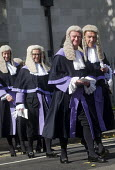 Lord Chancellors breakfast. Traditional procession of Judges to the Houses of Parliament to mark official start of year in the British legal system, London. Circuit Judges in full ceremonial dress fil... - Stefano Cagnoni - 2010s,2017,ceremonial dress,ceremonies,ceremony,Circuit Judge,Circuit Judges,cities,City,CLJ,costume,costumes,dress,elite,elitism,EQUALITY,Establishment,gown,gowns,Houses,INEQUALITY,judge,judges,judic