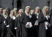 Lord Chancellors breakfast. Traditional procession of Judges to the Houses of Parliament to mark official start of year in the British legal system, London. Queens Counsels in full ceremonial dress fi... - Stefano Cagnoni - 2010s,2017,ceremonial dress,ceremonies,ceremony,cities,City,CLJ,costume,costumes,dress,elite,elitism,EQUALITY,Establishment,gown,gowns,Houses,INEQUALITY,judge,judges,judiciary,justice,law,legal,legal
