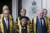 Lord Chancellors breakfast. Traditional procession of Judges to the Houses of Parliament to mark official start of year in the British legal system, London. Lady Hale of Richmond first female Presiden... - Stefano Cagnoni - 02-10-2017